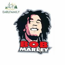 Earlfamily 13cm X 11 5cm Bob Marley Rasta Reggae Music Car Decal Sticker Cut Vinyl Wall Decor 7c Car Styling Occlusion Scratch Leather Bag