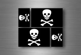 4x Sticker Flag Car Motorcycle Decal Bumper Vinyl Adhesive Pirate Jolly Roger For Sale Online Ebay