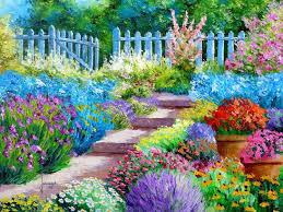 flower garden painting art