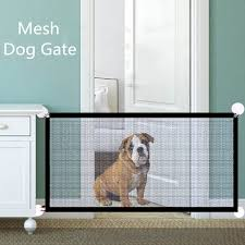 Mesh Dog Gate Retractable Fence Dog Indoor Removable Pasteable Dog Safety Gate For Dog Enclosure Pet Supplies Dropshipping Dog Doors Ramps Aliexpress