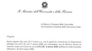 Nota MIUR del 5 marzo 2020: specificazioni in tema di coronavirus ...