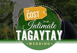 cost of an intimate tatay wedding