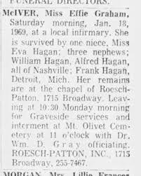 Effie Graham McIver obit - Newspapers.com