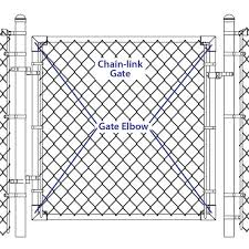 Galvanized Chain Link Fence Gate Elbow At Menards
