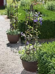 nocturne plant pot obelisk trellis