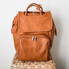 diaper bag backpack vegan leather