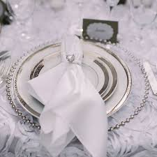 charger plate clear glass silver