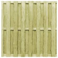 Hit And Miss Fence Panel Pinewood 180x180 Cm Green Sale Price Reviews Gearbest