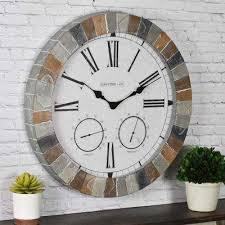 large slate outdoor clocks