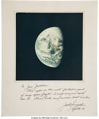 Jack Swigert Apollo 13 Earth Color Image Signed on Mat. ... | Lot #52121 |  Heritage Auctions