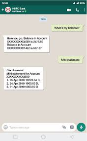 hdfc bank whatsapp banking