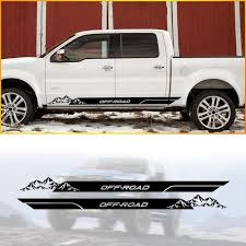 Pick Up Truck Car Side Stripes Side Skirts Graphics Decals Stickers For Jeep Gladiator Gladiator Overland Car Stickers Aliexpress