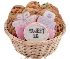sweet 16 cookie gift basket