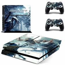 Monster Hunter World Iceborne Ps4 Skin Sticker Decal For Sony Playstation 4 Console And 2 Controllers Ps4 Skin Sticker Consoleskins Co