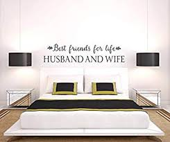 Ceciliapater Best Friends For Life Husband And Wife Wall Decal Bedroom Decor Bedroom Wall Decor Vinyl Wall Decal Husband Wife Quotes Wall Quotes Amazon Com