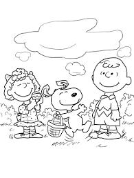 Peanuts Pasen Kleurplaat Gratis Kleurplaten Printen
