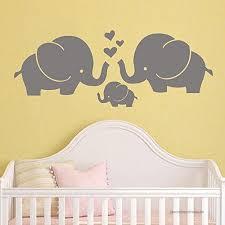 Battoo Elephant Family Wall Decal Nursery Elephant Wall Decal Baby Boy Or Girl Room Vinyl Wall