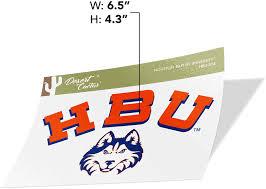 Amazon Com Houston Baptist University Hbu Huskies Ncaa Vinyl Decal Laptop Water Bottle Car Scrapbook Sticker 004 Arts Crafts Sewing