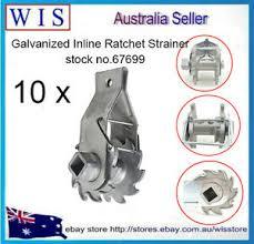 10 X Fence Wire Strainer In Line Fencing Ratchet Tensioner Tighten Galvansied