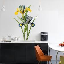 Shop Iris Flower Full Color Wall Decal Sticker An 159 Frst Size 40 X63 Overstock 20693806