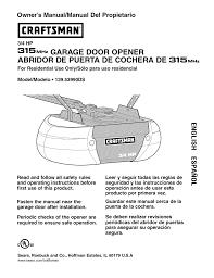 craftsman 139 53990d owner s manual