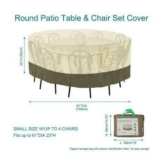 round patio table chair cover