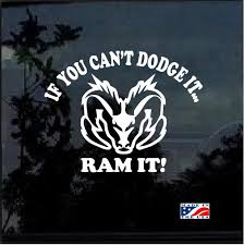 Cant Dodge It Ram It Truck Decal Sticker A2 Aftermarket Replacement Non Factory Custom Sticker Shop