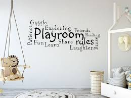 Playroom Rules Wall Art Quote Decal Modern Transfer