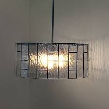 industrial textured glass pendant