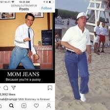 """Erica Beeney on Twitter: """"@DonaldJTrumpJr totes agree. If only @MittRomney  had @realDonaldTrump's curves he'd look wayyyy better in his mom jeans  #potmeetpussy… https://t.co/tlYadVDgIm"""""""