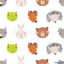 hand drawn seamless vector pattern with
