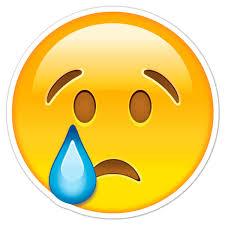 Aufkleber Trauriges Gesicht weint | WebWandtattoo.com