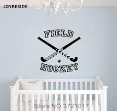 Joyreside Field Hockey Wall Sport Activity Decal Vinyl Sticker Decor Bedroom Interior Boys Kids Room Art Decoration Mural A490 Wall Stickers Aliexpress
