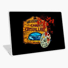 Friday The 13th Camp Crystal Lake Jason Voorhees Mask Movie Fan Art Ipad Case Skin By Wimblettdesigns Redbubble