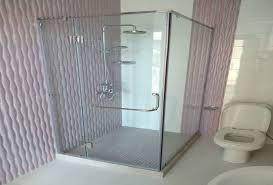 scenic half wall glass shower panel