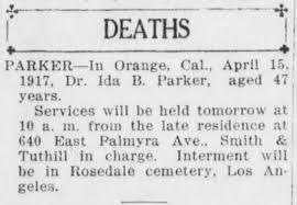 1917 apr Ida Parker Death - Newspapers.com