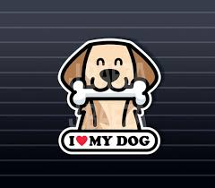 Weimaraner On Board Vinyl Car Decal Sticker Pet Lover Funny Dog Bone