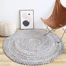 handwork jute carpet round floor mat