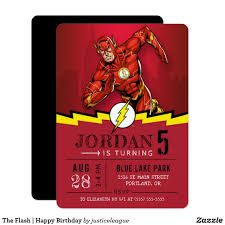 The Flash Happy Birthday Invitation Zazzle Com Con Imagenes
