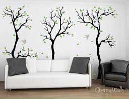 Forest Wall Decal Wall Decor Removable Matte Vinyl Wall Stickers 3 Tree Forest Sku Forest Wall Decals Wall Stickers Living Room Wall Decor Stickers