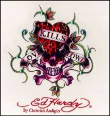 Ed Hardy Love Kills Slowly Decal Sticker Cling Blings Auto Ed Hardy Skull Decal Skull Artwork