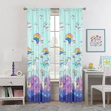 Zoomie Kids Wensley Magical Unicorn For Kids Bedroom Room Darkening Rod Pocket Curtain Panels Reviews Wayfair