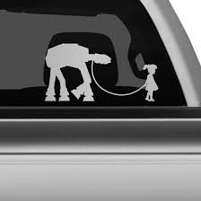 Star Wars At At Pet Car Decal The Decal Guru