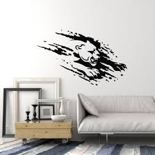 Vinyl Wall Decal Panther Head Wild Cat Predator Animal Tribal Stickers Wallstickers4you