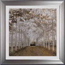 golden path framed wall art with silver
