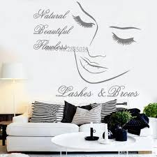 Eyelashes Wall Decal Lashes Brows Decals Wall Stickers For Girls Room Lashes Decal Beauty Salon Shop Wallpapers Decor Hot Cheap Wall Decor Stickers Cheap Wall Murals And Decals From Joystickers 15 29 Dhgate Com