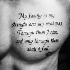 chest quote tattoo designs for men phrase ink ideas