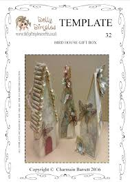 32 bird house gift box template