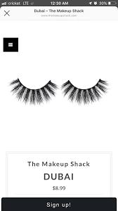 dubai lashes makeup shack