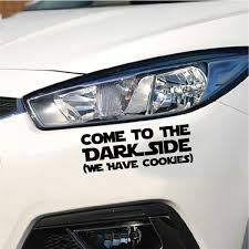 Hot 15 5 3cm Star Wars Car Sticker Come To The Dark Side We Have Cookies Vinyl Car Decal 6 Colors Wish